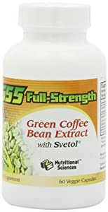 100% NATURAL G55 Full-Strength Green Coffee Bean Extract (MAXIMUM Weight Loss)! #1 Clinically Proven to Control Your Appetite and Lose Weight! - 60 Capsules/Bottle!