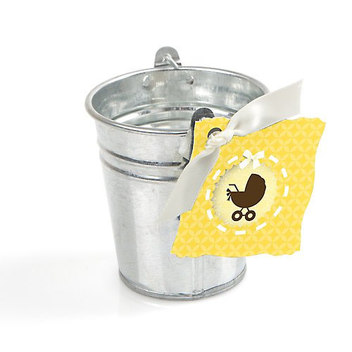 Baby Carriage - Tin Bucket And Tag Party Favor Kit - 20 Ct front-685921