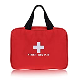 Plusinno TM Mini Compact First Aid Kit Medical Emergency Bag for Home Travel Sport Wilderness Survival (280 Pieces)