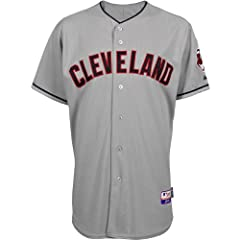 Majestic Athletic Cleveland Indians Blank Authentic Road Cool Base Jersey by Majestic Athletic