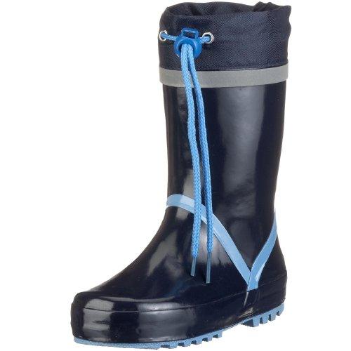 Playshoes Gummistiefel Basic 184307, Stivali unisex bambino, Blu (Blau (marine/bleu)), 22/23