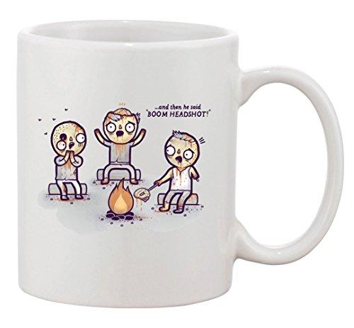 Tazza da caffè in ceramica, motivo: zombi in Campfire raccontare Tales & arrosto Brain