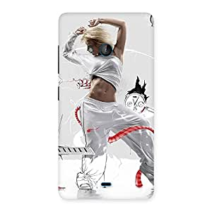 Cute White Dance Red Ribbon Back Case Cover for Lumia 540