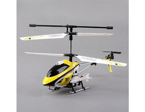 3.5-channel Transmitter R/C Helicopter with GYRO and Light (Yellow)