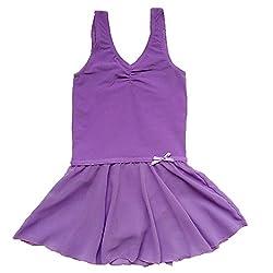 BHL Girls Gymnastics Leotard 3-14 Years (6-8, Purple)