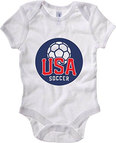 T-Shirtshock - Body neonato WC0638 WAYD - USA SOCCER STICKER, Taglia 18-24mesi