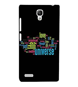 JUMBLED UP WORDS EXPLAINING THE MEANING OF LIFE 3D Hard Polycarbonate Designer Back Case Cover for Xiaomi Redmi Note :: Xiaomi Redmi Note 4G