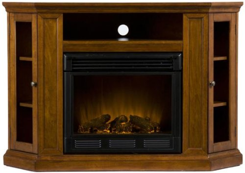 Preston Media Electric Fireplace, Electric, Mahogany
