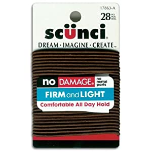 Scunci Elastics Brown 28 Pk (3-Pack)