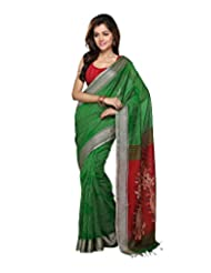 Bengal Handloom Silk Block Print Saree - B00WFUXKAU