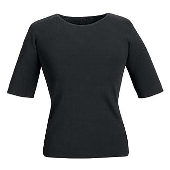 Linden Grey 5E21 Women'sShort Sleeve Shell Black 3X-Large