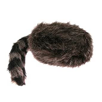 Faux Raccoon Tail Hat - Classic Raccoon Tail Hat Of Faux Fur