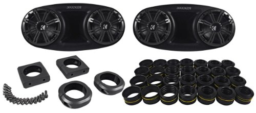 "Kicker 41Kmt674 6.75"" 300 Watts Peak/150 Watts Rms Marine/Boat Wakeboard Tower Speakers With Dual Mounting Option"