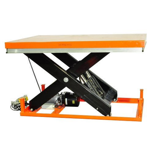Bolton Tools New Stationary Industrial Electric Powered Hydraulic Lift Table - 4400 LB of Capacity - 70.1