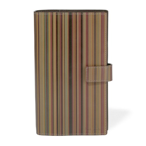 (ポールスミス) Paul Smith カラフルステッチ 6穴 システム手帳 マルチストライプ [並行輸入品]