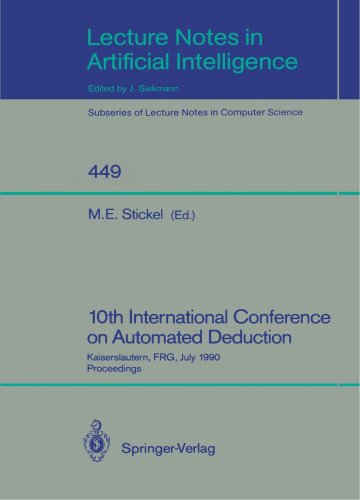 CADE Automated Deduction 10 conf