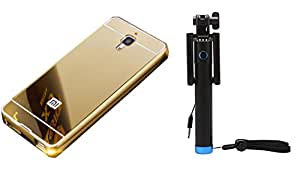 Novo Style Back Cover Case with Bumper Frame Case for Xiaomi Mi Redmi Mi4 Golden + Wired Selfie Stick No Battery Charging Premium Sturdy Design Best Pocket SizedSelfie Stick