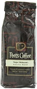 Peet's Coffee & Tea Major Dickason's Blend Grind Coffee, 16-Ounce Bags (Pack of 2)
