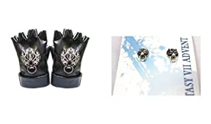 Gloves & earring set Final Fantasy VII Cloudy Wolf Cloud FF7 Cosplay Accessories (japan import)