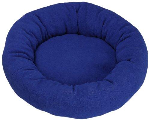 Hundekissen-Fiona-Fleece-Donut-blau-40cm