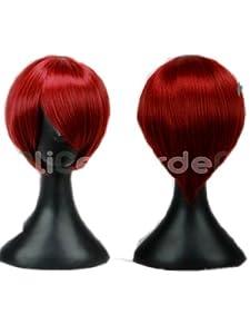 Final Fantasy Series BLEACH Orankoukou HostClub Short Wine Red Wig Cosplay Wigs (Wine Red)
