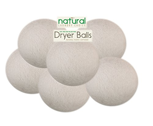 Natural Laundry Choice 6 Xl Wool Dryer Balls Natural Fabric Softener