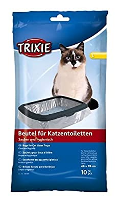 Bulk - Trixie Cat Litter Tray Bags, 46 59 cm, 6 Packs Of 10 - 60 Pieces
