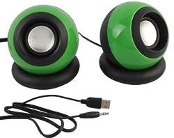 Speed Multimedia USB 2.0 E08 Mini Usb Portable Laptop/Desktop Speaker (Green, 2.0 Channel)