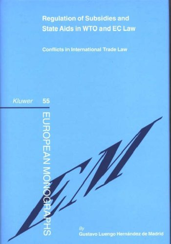 Regulation of Subsidies and State Aids in WTO and EC Law: Conflicts in International Trade Law (European Monographs)