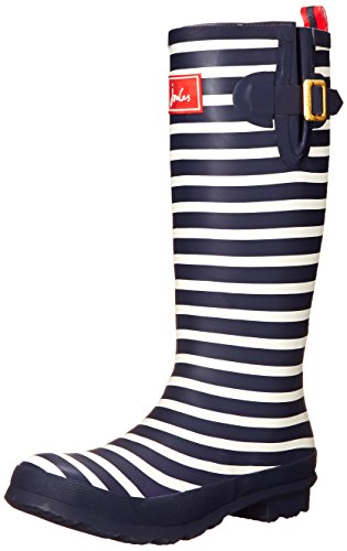 Joules Women's Welly Print Rain Boot, French Navy Stripe, 6 M US (Rain Boots Printed compare prices)