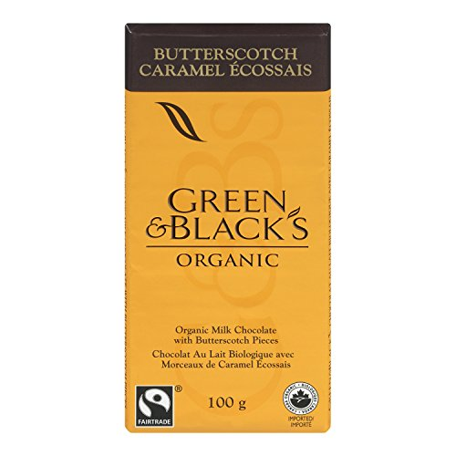 Green & Black's Organic Milk Chocolate with Butterscotch Pieces, 100gm