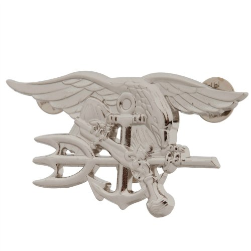 Generic Men'S Us Navy Seal Eagle Anchor Trident Metal Badge Insignia 3X 1 1/2 Sliver
