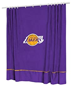 Sports Coverage NBA Sidelines Team Color Shower Curtain by Sports Coverage