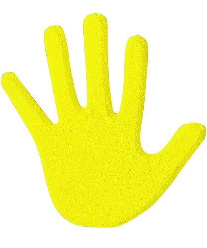 ceinturesd paire de mains pour marquage au sol de couleur jaune visiodirect. Black Bedroom Furniture Sets. Home Design Ideas