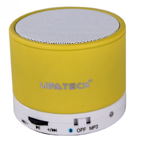 Limtech® B14 Wireless Mini Bluetooth Speaker Hifi Audio Player With Mic For Iphone 5 Ipad 3 Ipad 4 Smart Phone With Rechargeable Battery And Enhanced Bass Resonato (Yellow)