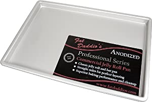 Fat Daddio's Anodized Aluminum Jelly Roll Pan, 10 Inch x 15 Inch x 1 Inch
