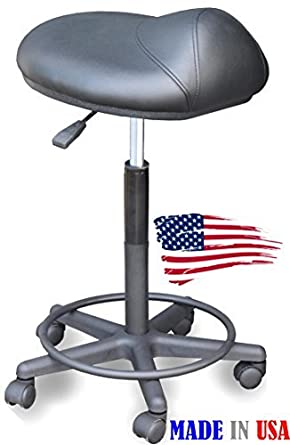 Amazon Com 916 Salon Hair Cutting Stool Saddle Anti