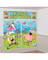 Amscan Mens SpongeBob Scene Setter Decoration Set Blue/green Medium