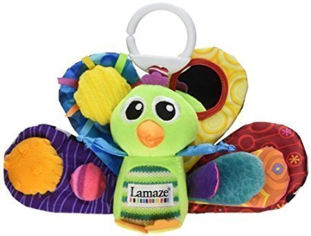 Tomy Lamaze Play andGrowTake Along Toy, Jacques the Peacock - 1