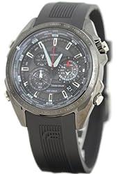 Casio Edifice Quartz Black Dial Black Band - Men's Watch EQs500C-1A1