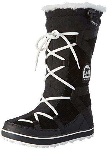 Sorel Women's Glacy Explorer Snow Boot, Black, 12 M US (Amazon Womens Snow Boots compare prices)