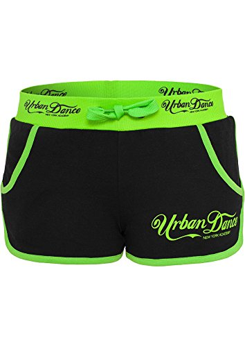 Urban Classics Hotpants UD Academy , Farbe:blk/neongreen;Größe:XL