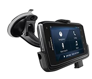Motorola DROID 4 Vehicle Navigation Dock with Dual Port Rapid Vehicle Charger - Retail Packaging - Black