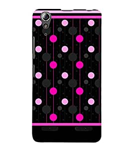 Pink Polka Dotted Lines 3D Hard Polycarbonate Designer Back Case Cover for Lenovo A6000 Plus