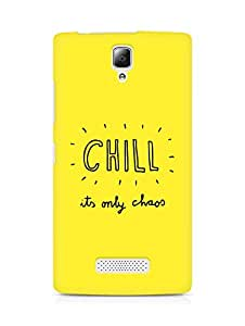 AMEZ chill its only chaos Back Cover For Lenovo A2010