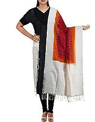 Unnati Silks Women Purple Pure Handloom Pochampally Cotton Chunni