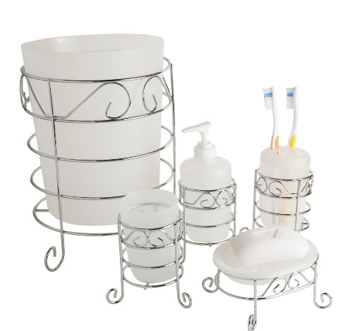 Home Basics 5-Piece Bath Accessory Set