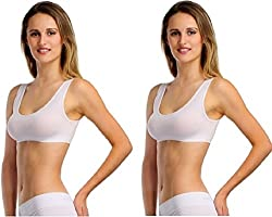 BYC White Sports Bra (Free Size) (Pack of 2)