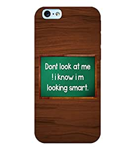printtech Wooden Texture with text Back Case Cover for Apple iPhone 6