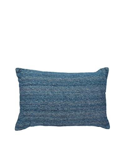 Bandhini Homewear Design Variegated Indigo Lumbar Pillow, Navy